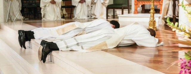 Picture of priests during ordination