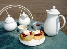 Picture of a yummy cream tea
